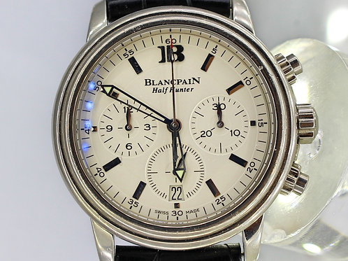 Blancpain Leman Chronograph Half Hunter 18 kt White Gold – Men's