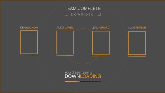 Team Builder app'  team downloading