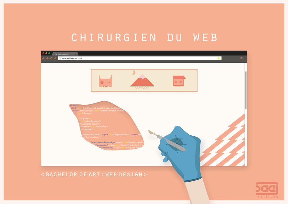 Affiche : Chirurgien du web