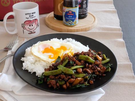 [Recipe] Thai Stir-Fried Pork & Beans (Pad Kra Pow Moo)