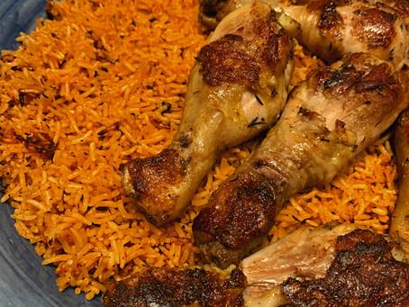 [Recipe] Nigerian Jollof Rice with Chicken Drumsticks