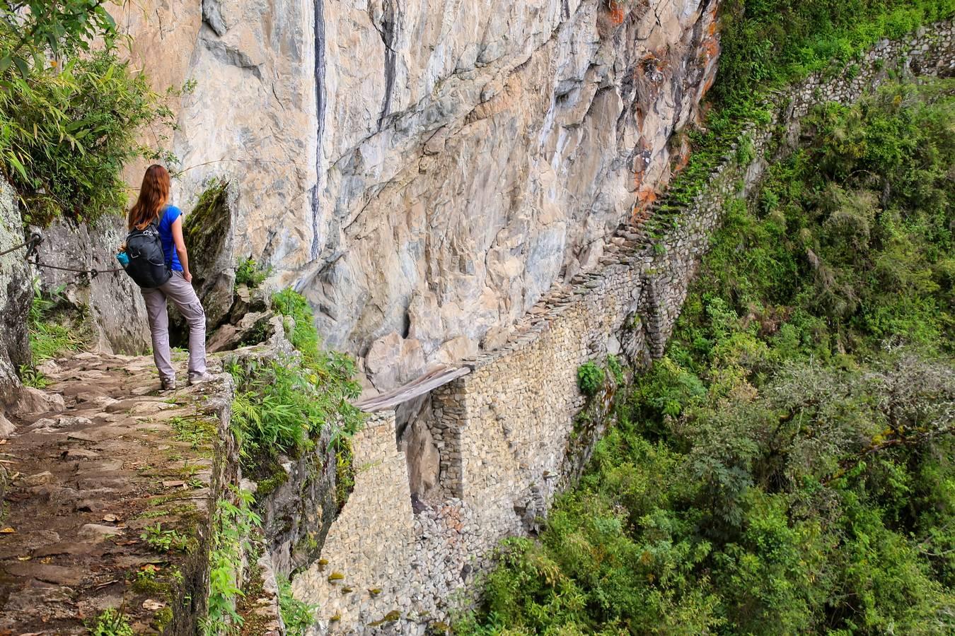 De Inca Brug tijdens de Inca Trail op dag 3