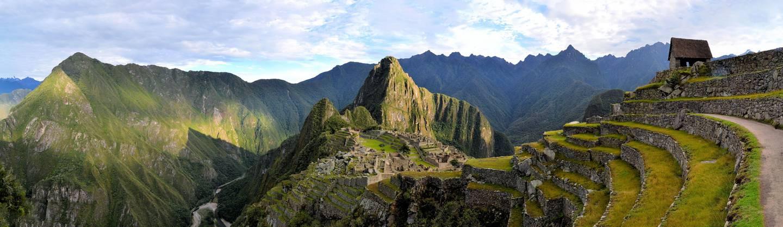 Panorama foto Machu Picchu