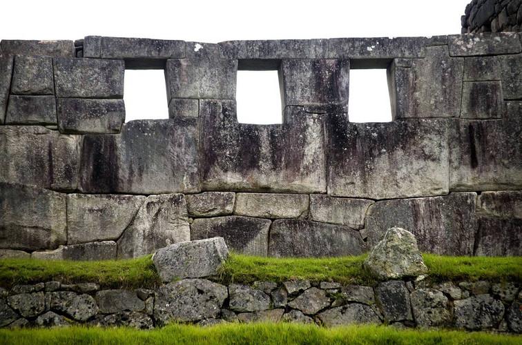 Inca muur in Machu Picchu