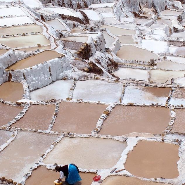 zoutpannetjes bij maras