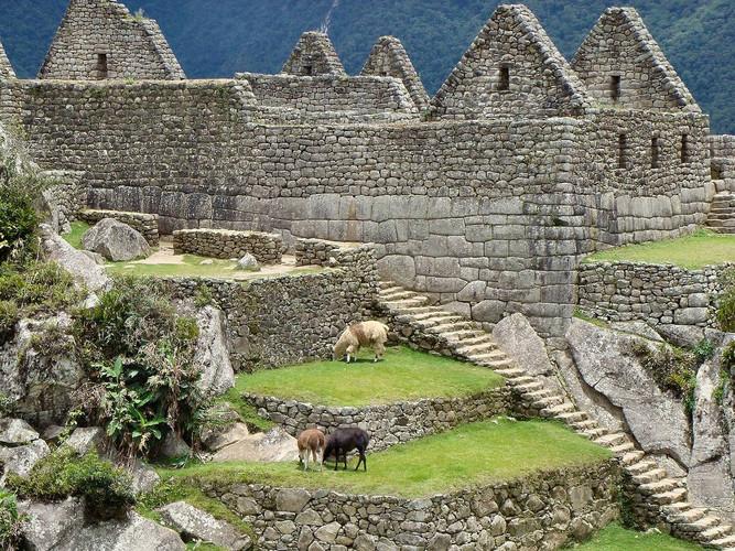 Het woongedeelte in Machu Picchu