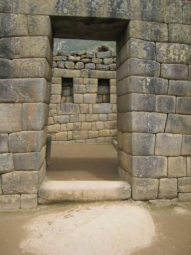 Doorgang en deur in Machu Picchu
