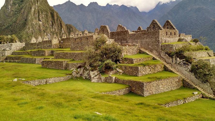 Uitzicht op het centrale Plein van Machu Picchu