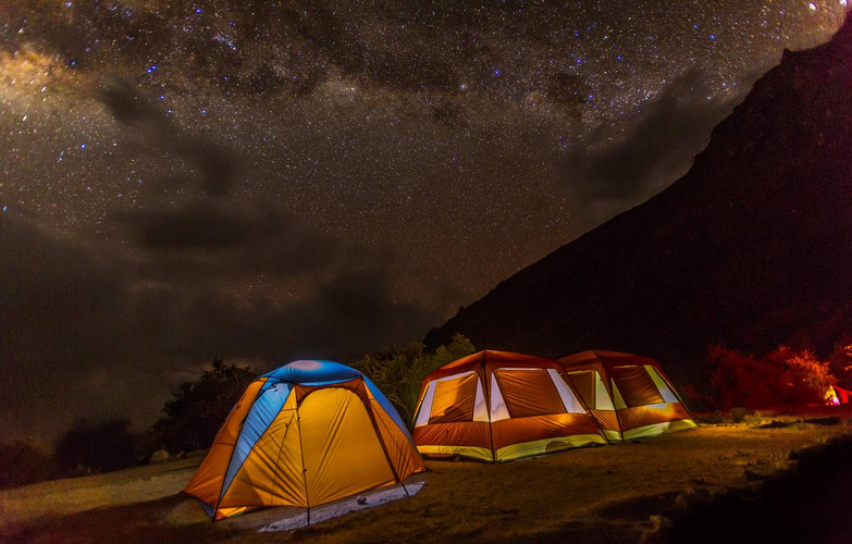 Kampeerplaats tijdens de Inca Trail
