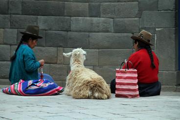 Vrouwen in Cusco