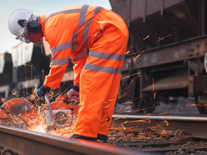 Specialist rail surveyors Pin Point change gear with GeoMax X-PAD Ultimate software