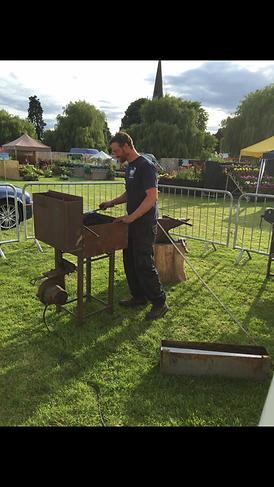 Tony Callow Live demonstrating the ar of blacksmithing Stratford upon Avon