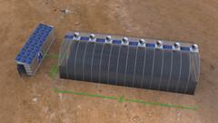 Un invernadero solar EnviroDom