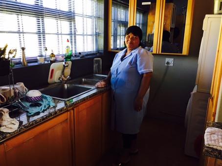 Katriena doing her magic in the kitchen