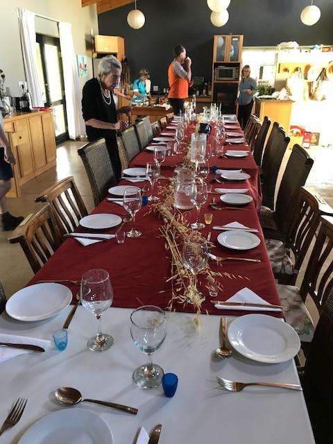 The long tables got longer.