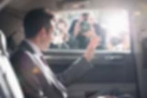 politician in car