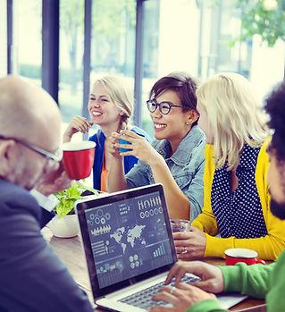 Marketing Team-Meeting mit Brainpartners vor Ort