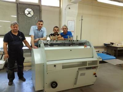 Instalacja maszyny GLUEMATIC DUAL w firmie OPOLGRAF S.A.