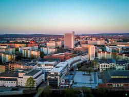 Blick auf die Chemnitzer Innenstadt
