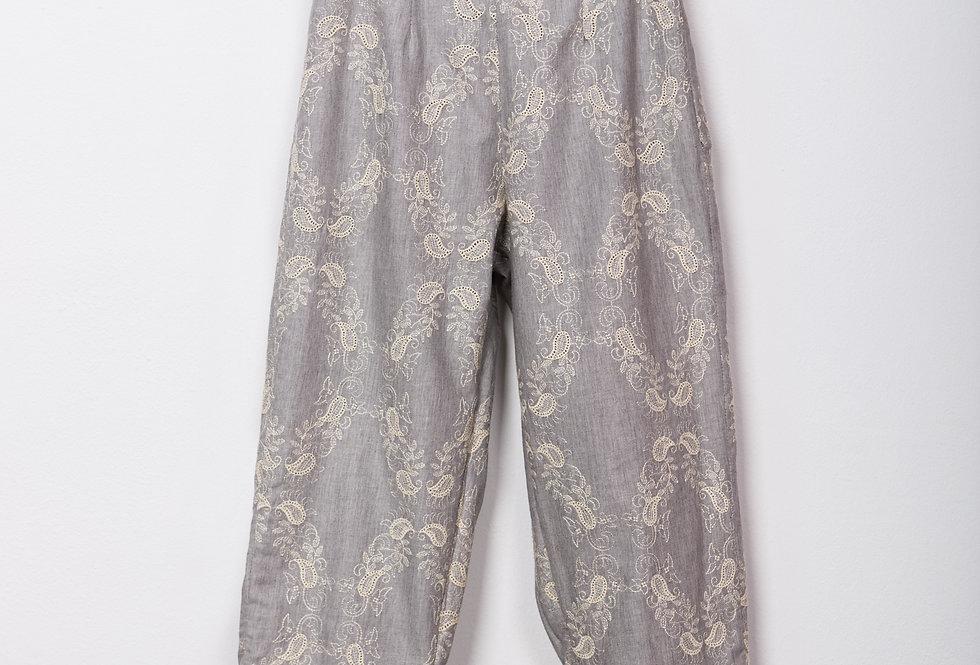 Pantalón viyella bordado paisley