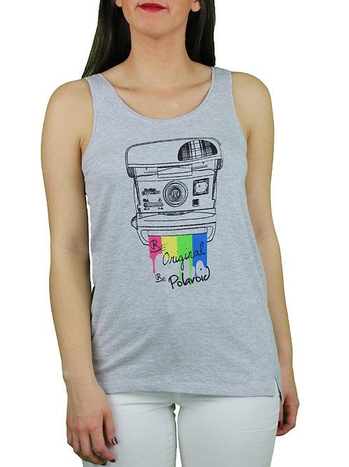 Camiseta Polaroid CámaraGris