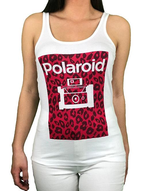 Camiseta Polaroid Animal Blanca