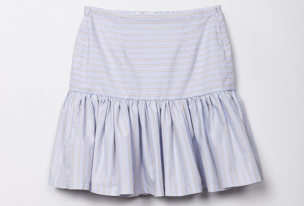 Falda popelín rayas