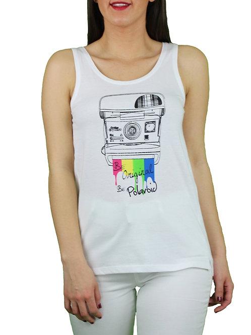 Camiseta Polaroid Cámara Blanca