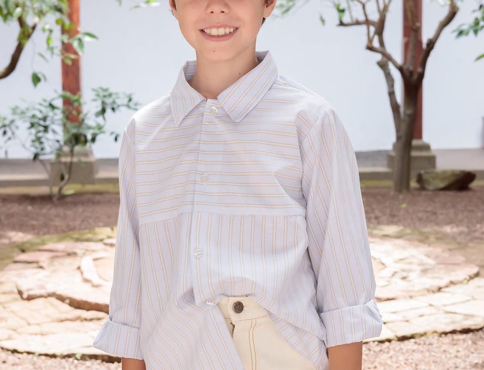 Camisa popelín rayas