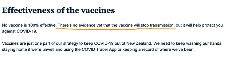 No evidence vaccine will stop transmissi