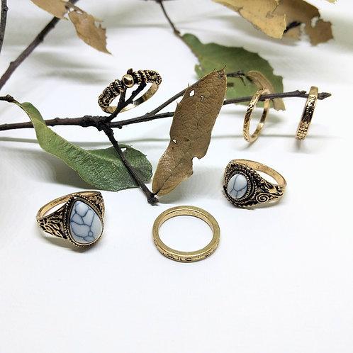 Kit de anillos STONE ORO