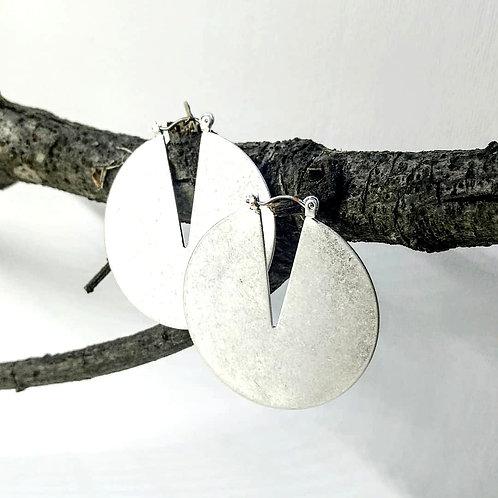 Aretes modelo CIRCLE PLATA