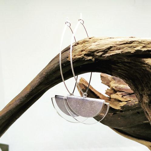Aretes modelo PÉNDULO PLATA