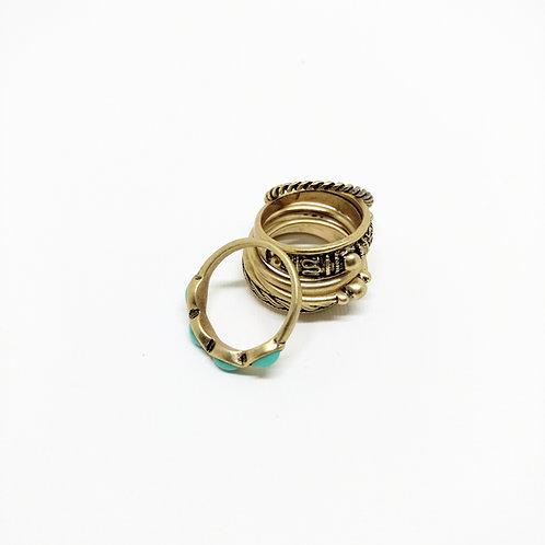 Kit de anillos BOHO ORO