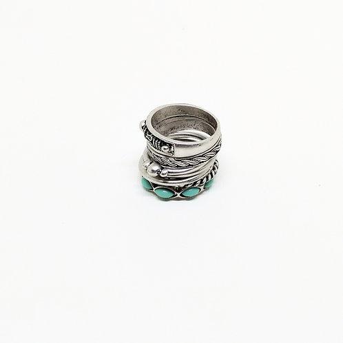 Kit de anillos BOHO PLATA
