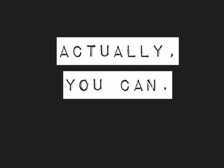 Actually, you can!