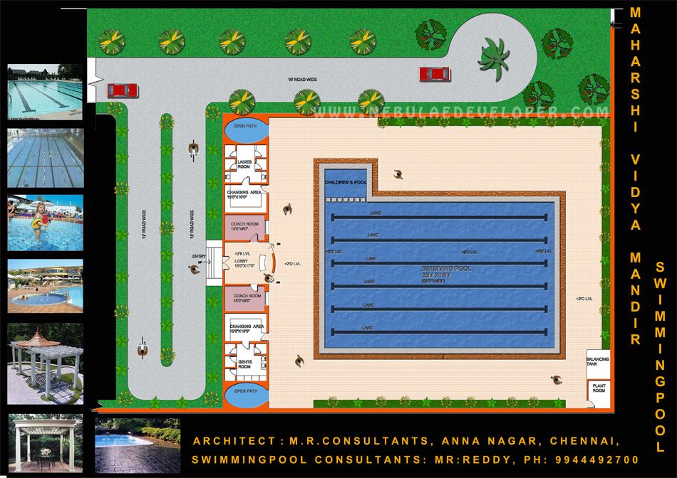 Modern swmming pool plan