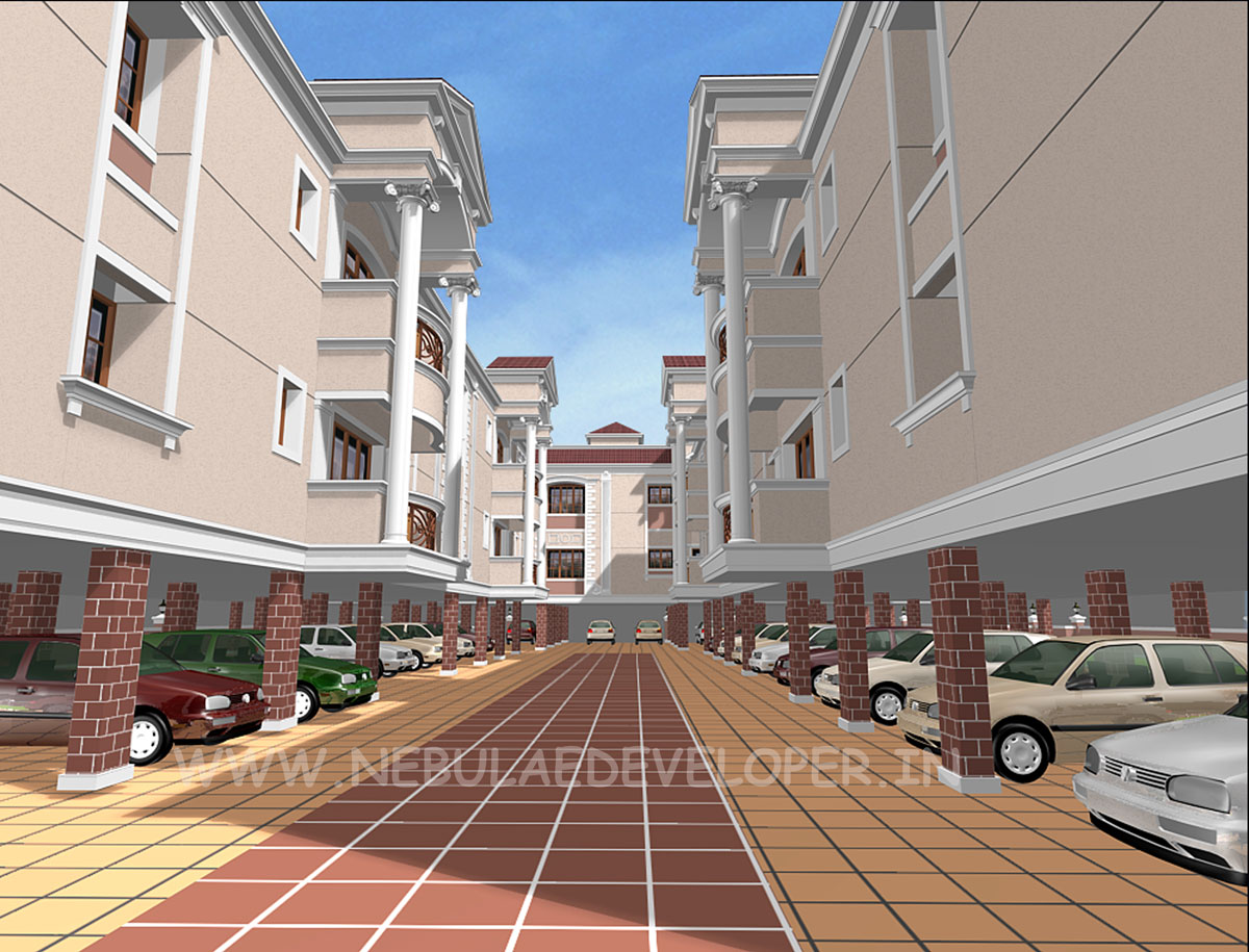apartment car parking view