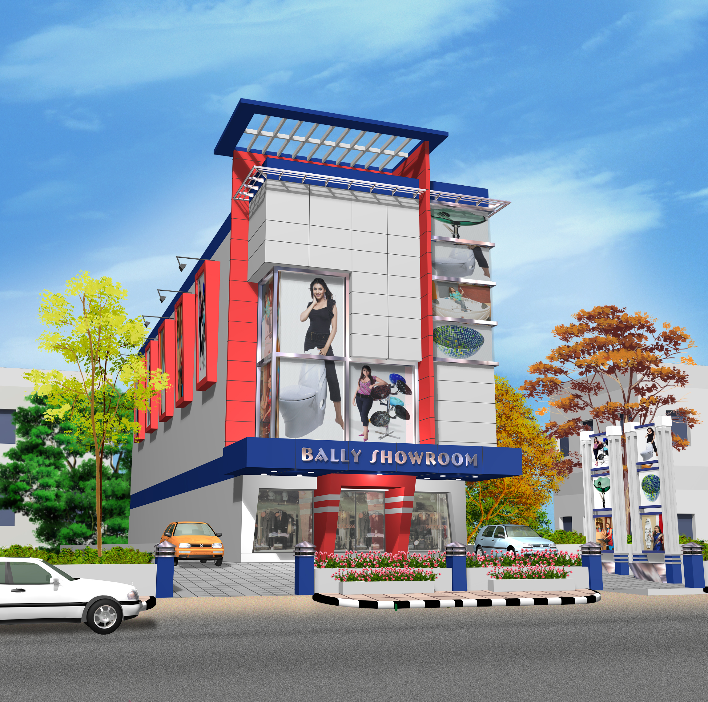 Show room architect design in pune
