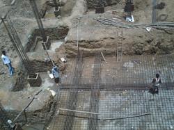 Basement construction work