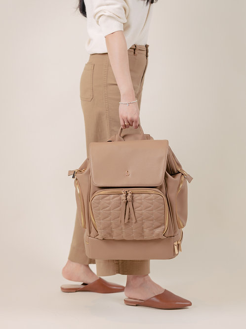 LuciAddi Convertible Backpack - Taupe