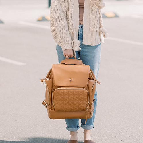 LuciAddi Convertible Backpack - Cinnamon