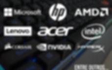 Diversas marcas em informática