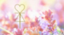 A Prema Agni symbol and Pink Flowers
