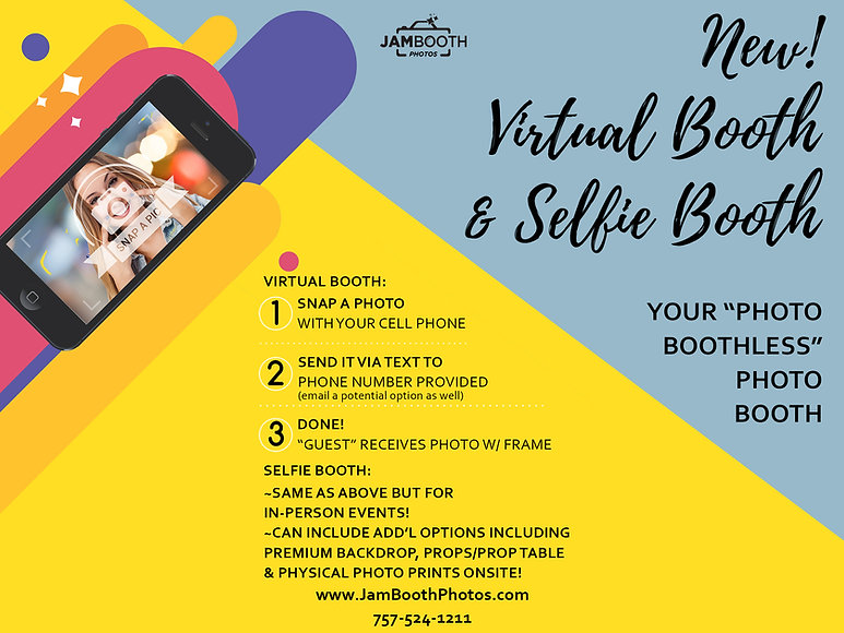 Virtual Booth and Selfie Booth 6-13-2020