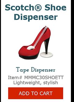 MMMC30SHOETT Red Shoe Tape Dispenser