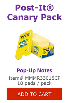 MMMR33018CP Canary Pop Up Notes