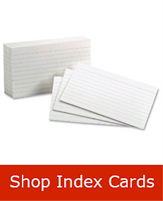 Index Cards Back to School