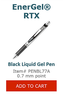 PENBL77A Black Liquid Gel Pen