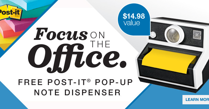 Free! Post-it Pop-Up Camera Dispenser